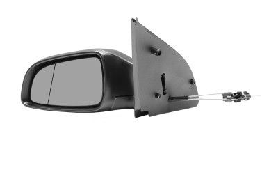 Oglinda exterioara Opel Astra H 5-Usi/Combi 2003-2009 Stanga, Crom, manuala, prin cablu, Fara incalzire, carcasa prevopsita, grunduita, Asferica, View Max