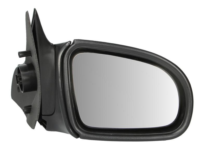 Oglinda exterioara Opel Corsa B 01.1993-10.2001 partea dreapta View Max crom convex carcasa neagra reglare electrica cu incalzire