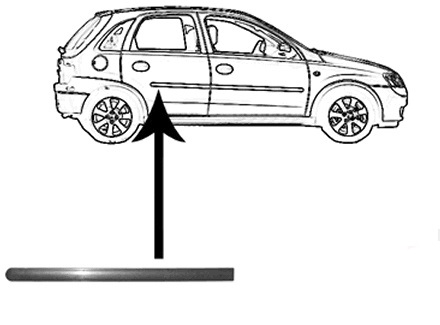 Bandou usa Opel Corsa C /Combo 07.2000-10.2010 Usa Spate Dreapta Negru modele cu 5 Usi