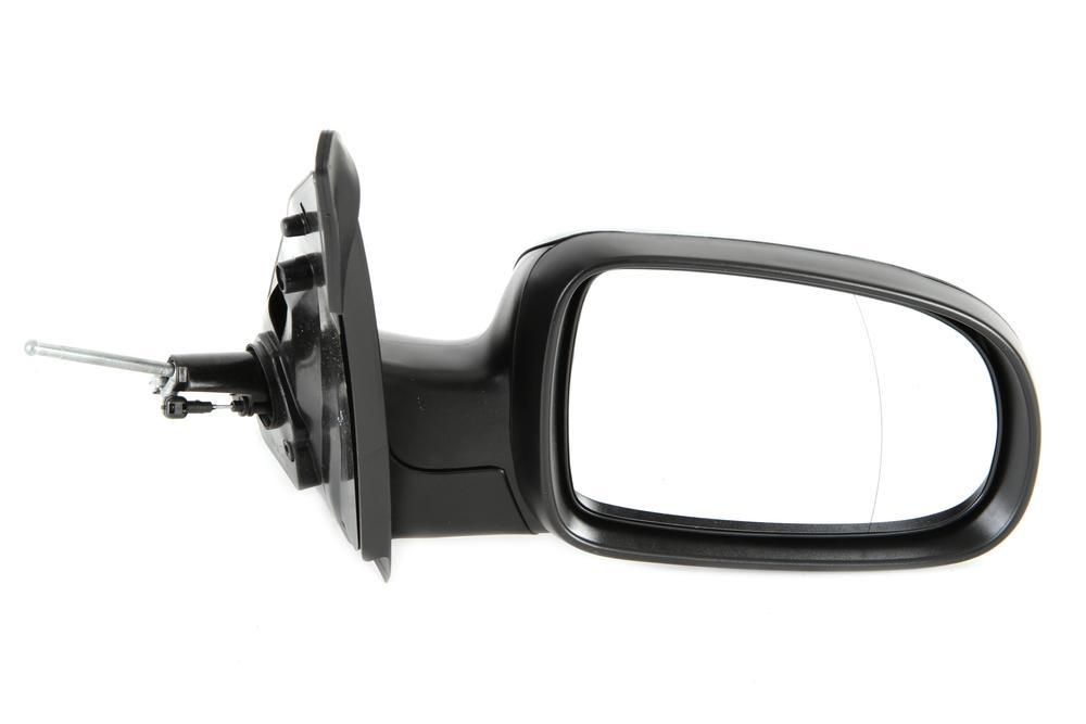 Oglinda exterioara Opel Corsa C 07.2000-10.2010 partea dreapta View Max crom convex carcasa prevopsita grunduita reglare manuala prin cablu fara incalzire