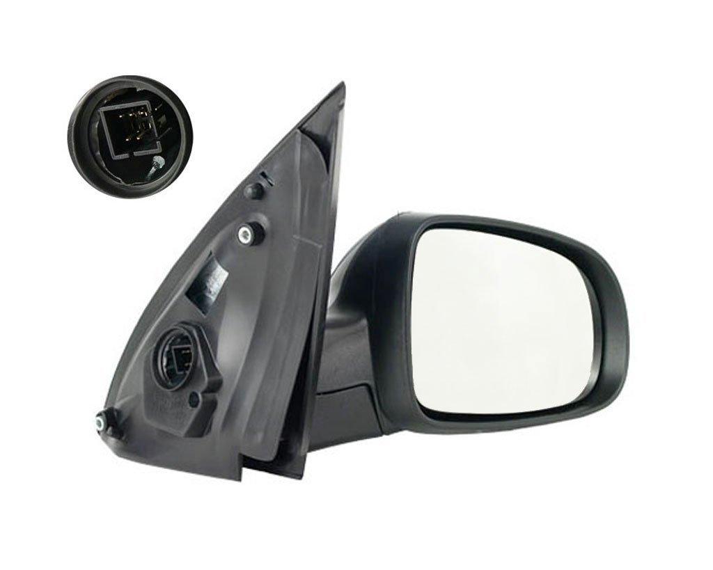Oglinda exterioara Opel Corsa C, 07.2000-10.2003, Opel Corsa C, 07.2000-10.2003, Opel Corsa C, 10.2003-10.2010, partea Dreapta, culoare sticla crom, sticla convexa, cu carcasa grunduita, cu incalzire, ajustare electrica
