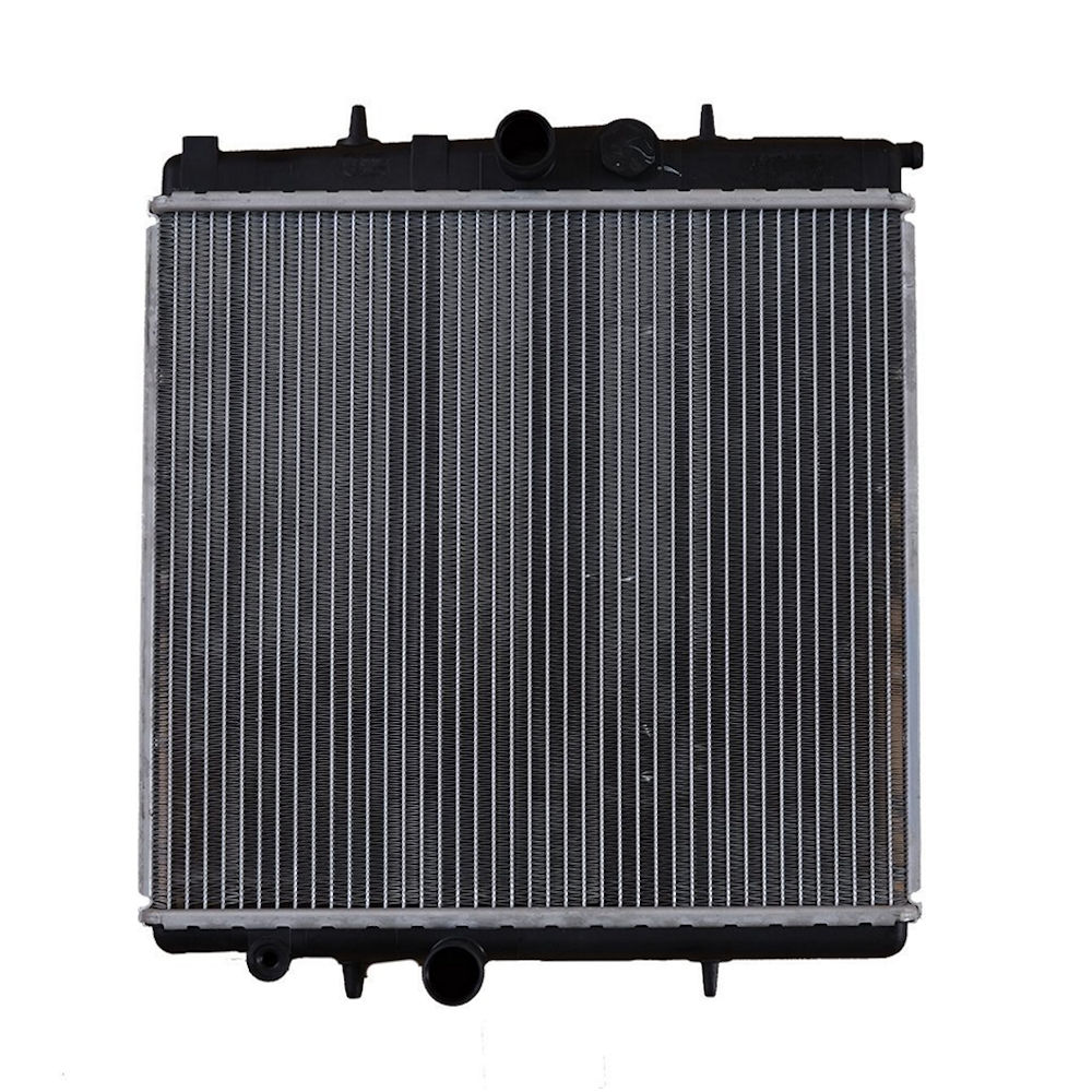 Radiator racire Peugeot 206 (2), 1998-09.2001 Motorizare 1, 1 40kw; 1, 6 65kw; Model 206/206 + 09.1998-04.2002 Motor 1, 1 44kw; 1, 4 55kw Benzina, tip climatizare Manual, fara AC, dimensiune 415x380x23mm, Cu lipire fagure mecanica