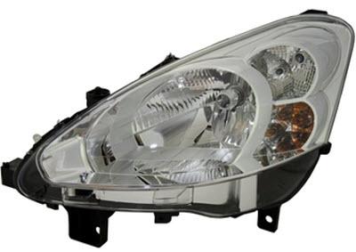 Far Peugeot 208, 04.2012-, Electric, tip bec H7+H7, omologare ECE, cu motoras, cu lumini de zi, Stanga, marca DEPO