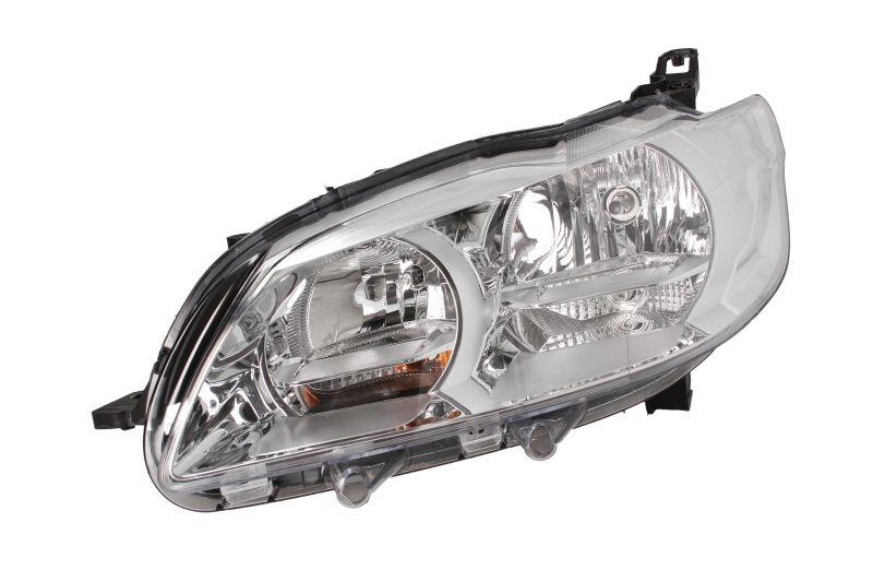 Far Peugeot 301, 01.2013-, Electric, tip bec H7+H7, omologare ECE, fara motoras, Stanga, marca DEPO