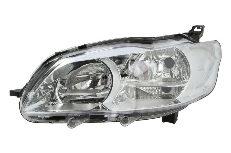 Far Peugeot 301, 01.2013-, Electric, tip bec H1+H7, omologare ECE, fara motoras, cu lumini de zi, Stanga, marca DEPO