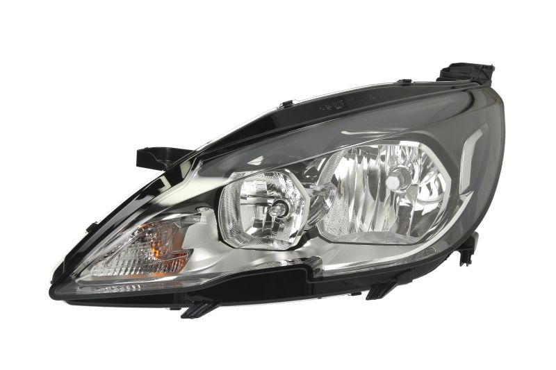 Far Peugeot 308, 10.2013-, Electric, tip bec H7+HB3, omologare ECE, cu motoras, cu lumini de zi, Stanga, marca DEPO