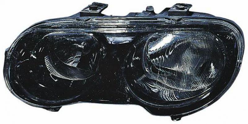 Far Rover 25 (RF) 03.2000-2005 DEPO partea Dreapta, tip bec H1+H7 electric, culoare negru