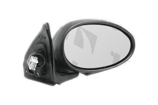 Oglinda exterioara Rover Mg 45 (Rt), 03.2000-, partea Dreapta, culoare sticla crom, sticla convexa, cu carcasa neagra grunduita, cu incalzire, ajustare electrica