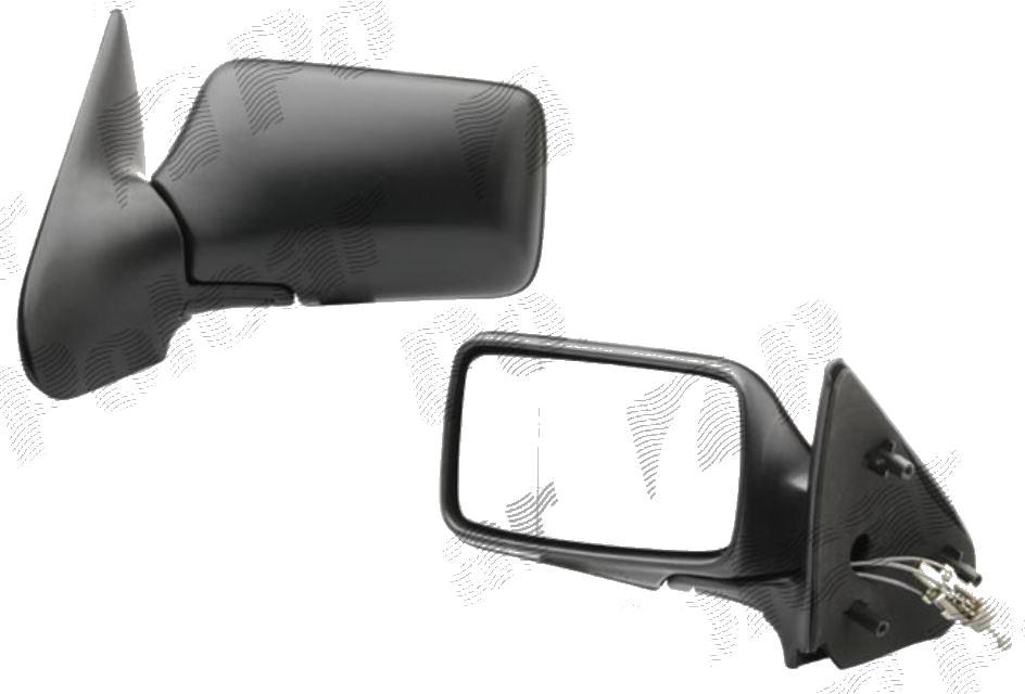 Oglinda exterioara Seat Ibiza/Cordoba (6K) 5.1993-02.2002, Stanga, Crom, manuala, prin cablu, Fara incalzire, carcasa neagra, Plana