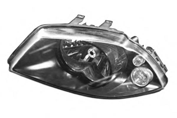 Far Seat Ibiza/Cordoba (6l), 02.2002-05.2006, Manual/electric, tip bec H4, omologare ECE, fara motoras, negru, 6L1941023; 6L1941023A; Stanga, marca DEPO
