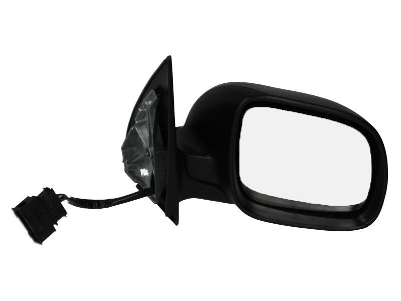Oglinda exterioara Skoda Fabia (6Y) 04.2000-03.2006 Partea Dreapta Crom Convex Electrica Cu Incalzire neagra, Model MIC, conector rectangular