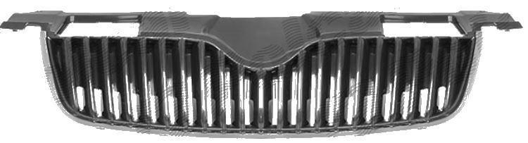 Grila radiator Skoda Fabia 2 (5J), 03.2007-04.2010, ROOMSTER/PRAKTIK (5J), 07.06-04.10 fara ornament