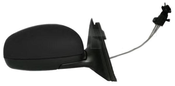 Oglinda exterioara Skoda Fabia 2 (5J), 2007-03.2015 Dreapta, Crom, manuala, prin cablu, Fara incalzire, carcasa neagra, Convex, View Max