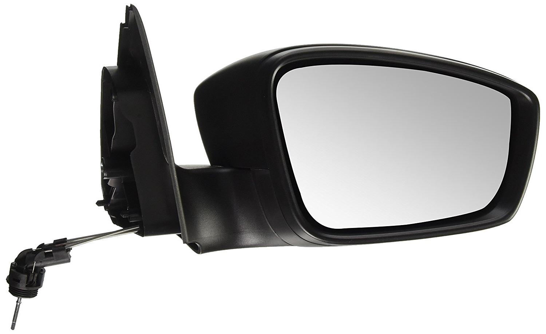 Oglinda exterioara Seat Toledo (Nh), 10.2012-, Skoda Rapid (Nh), 10.2012-, partea Dreapta, culoare sticla crom, sticla convexa, cu carcasa neagra, ajustare manuala