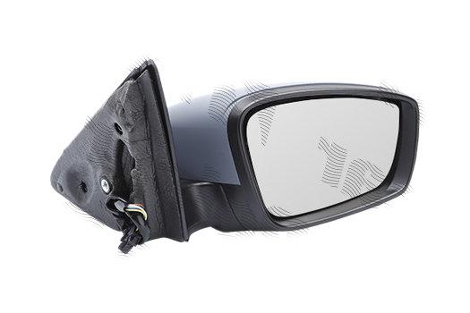 Oglinda exterioara Skoda Fabia, 12.2014-, partea Dreapta, culoare sticla crom, sticla convexa, cu carcasa grunduita, cu incalzire, ajustare electrica