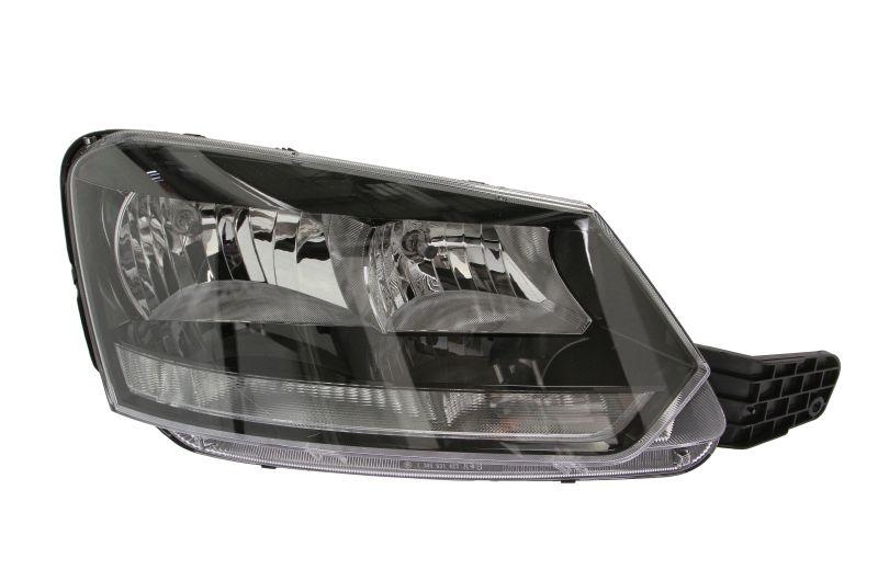Far Skoda Yeti (5l), 09.2013-, Electric, tip bec H7+H7, omologare ECE, cu motoras, 5L1941016D, Dreapta, marca DEPO
