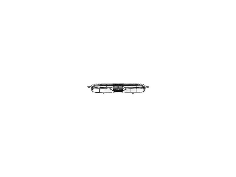 Grila radiator Subaru Legacy (Bl/Bp/Bps), 09.2003-2006, crom/negru