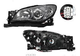 Far Subaru Impreza (GD/GG) 10.2005-09.2007 DEPO partea Stanga electric fara motoras tip bec H7+HB3, culoare rama negru