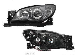 Far Subaru Impreza 09.2007-12.2012 DEPO partea Stanga electric fara motoras tip bec H7+HB3, culoare rama negru