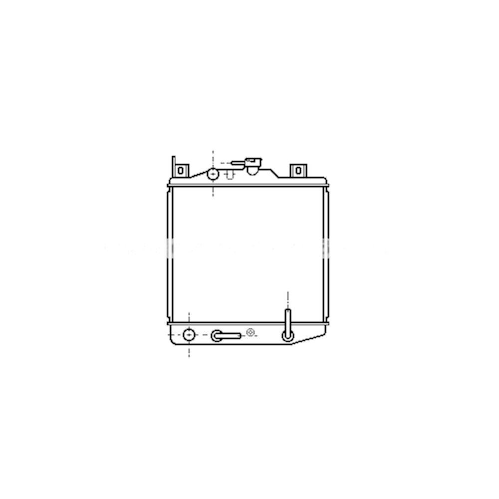 Radiator racire Suzuki Swift, 08.1989-09.1994, Motorizare 1, 0 39kw Benzina, tip climatizare Automat, tip Denso, diametru intrare/iesire 28/28mm, dimensiune 328x327x32mm, Cupru/Plastic, KOYO