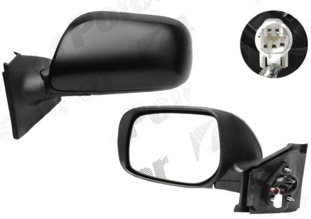 Oglinda exterioara Toyota Yaris (Xp9) Hatchback 01.2006-03.2009 Partea Dreapta Crom Convex Electrica Fara Incalzire, cu 5 pini, cu pliere, carcasa neagra cu primer