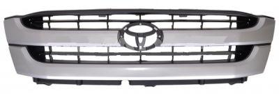 Grila radiator Toyota Hilux, 01.2002-01.2005 modele 4x2 2WD, gri inchis