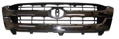 Grila radiator Toyota Hilux, 01.2002-01.2005, crom/negru, 2WD