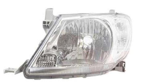 Far Toyota Hilux 01.2008-01.2012 DEPO partea Stanga, tip bec H4 manual/electric, cu semnalizator alb