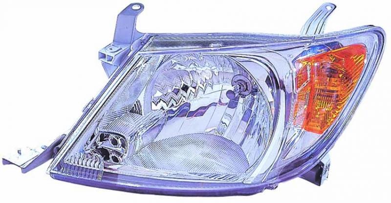 Far Toyota Hilux 01.2005-08.2008 DEPO partea Dreapta, tip bec H4 fara motoras