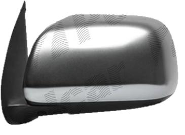 Oglinda exterioara Toyota Hilux 01.2005-01.2012 Partea Stanga Crom Convex Manuala Fara Incalzire carcasa grunduita