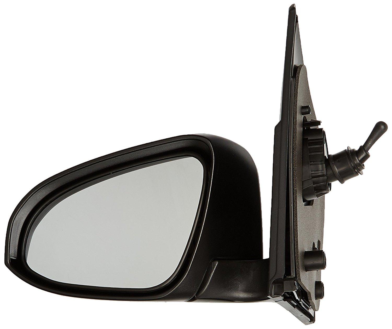 Oglinda exterioara Citroen C1, 06.2014-, Peugeot 108, 06.2014-, Toyota Aygo, 06.2014-, partea Stanga, culoare sticla crom, sticla convexa, carcasa cu textura, ajustare manuala