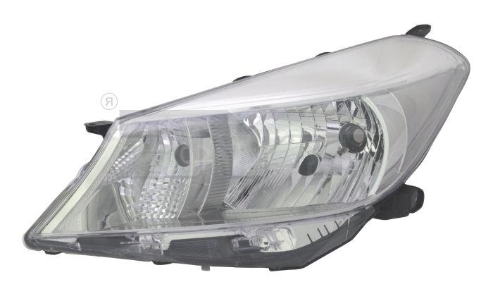 Far Toyota Yaris (XP130) 03.2011- TYC partea Stanga, tip bec H4 cu motoras, culoare rama argintiu
