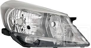 Far Toyota Yaris (Xp130), 03.2011-, Electric, tip bec H4, omologare ECE, fara motoras, argintiu, Dreapta, marca DEPO