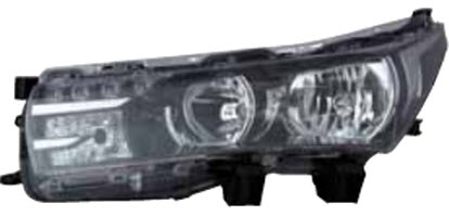 Far Toyota Corolla (E16) 07.2013-, Stanga, tip bec H11+Hb3, reglare electrica, cu motoras, ECE, cu lumni de zi tip LED, TYC