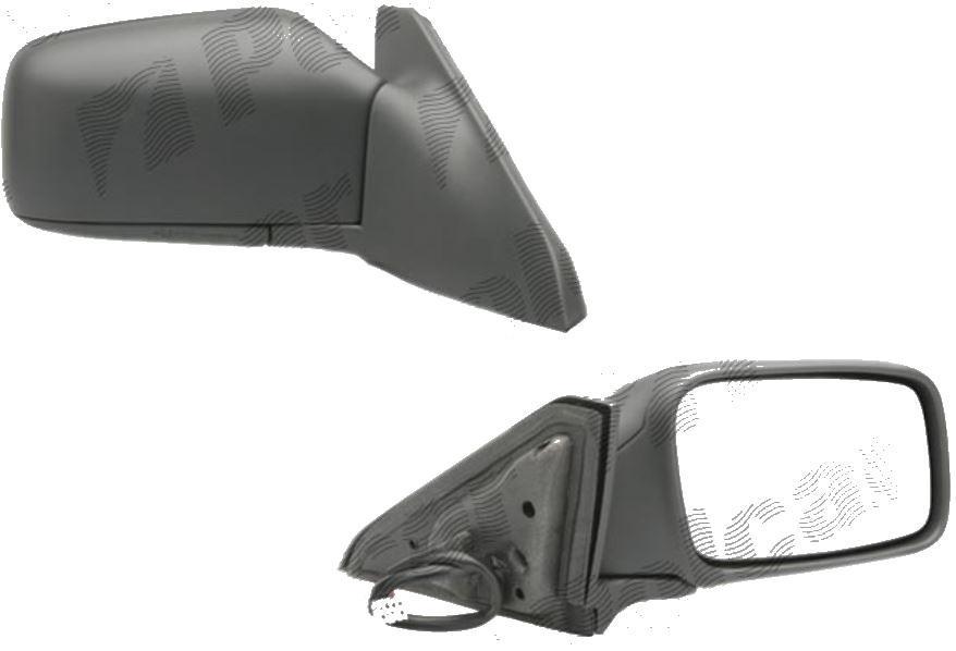 Oglinda exterioara Volvo S40 / V40 (Vs/Vw) 1996-2000 Partea Dreapta Crom Convex Electrica Cu Incalzire, carcasa neagra grunduita