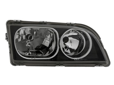 Far Volvo S40 / V40 01.2003-12.2003 DEPO partea Dreapta electric fara motoras tip bec H7+H7, culoare rama negru