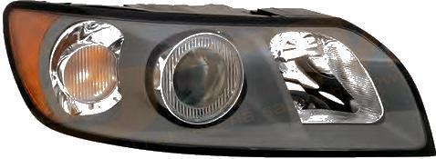 Far Volvo S40 (MS/MW) 10.2003-04.2007 DEPO partea Dreapta electric cu motoras tip bec D2S+HB3, culoare rama negru