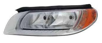 Far Volvo V70 (BW) 03.2007-/S80 (AS) 04.2006-/XC70 (BW) 03.2007- TYC partea Dreapta electric fara motoras tip bec H7+H9, culoare rama argintiu