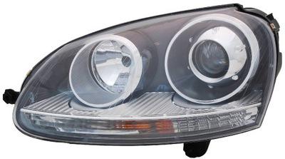 Far VW Golf 5 (1K) 10.2003-05.09 DEPO partea Stanga XENON tip bec D2S+H7 cu reflector gri