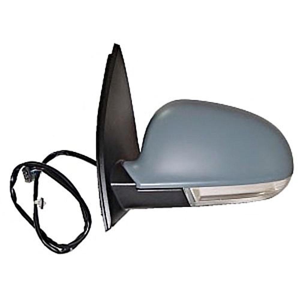 Oglinda exterioara VW Golf 5 (1K) 10.2003-05.2009 Partea Dreapta Crom Convex Electrica Cu Incalzire 1K0587538Gru, cu semnalizare, carcasa grunduita, cu pliere, cu lampa perimetru