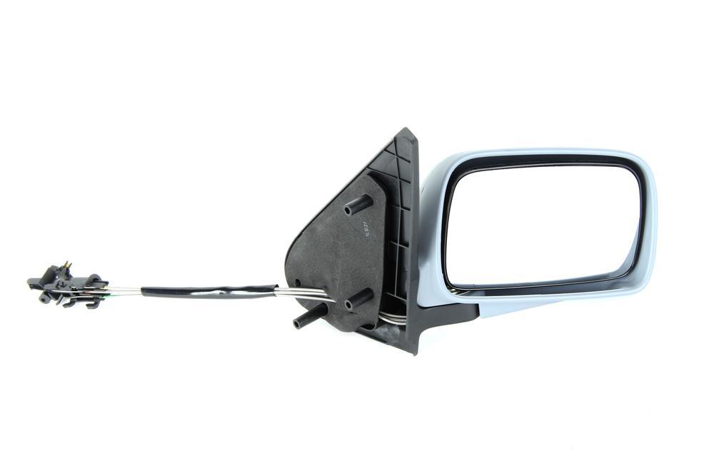Oglinda exterioara VW Polo (6N) Hatchback 10.1994-08.1999 Partea Dreapta Crom Convex Manuala Prin Cablu Fara Incalzire carcasa grunduita