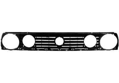 Grila radiator VW Golf 2 (19E/1G), 1983-1992, negru, Pentru modele cu 4 faruri, diametru interior 14cm