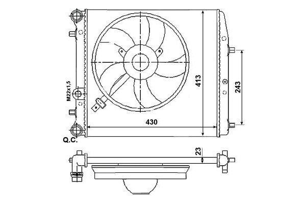 Radiator racire 691308-1