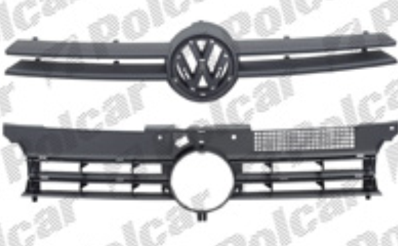 Grila radiator Volkswagen Golf 4 (1J) (Hb + Estate), 08.1997-09.2006, grunduit, complecta, 1J0853651