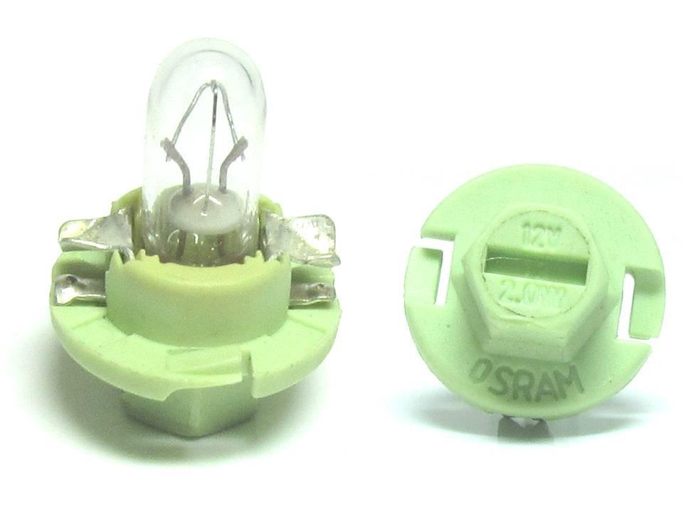 Bec auto Osram 2352MFX6 12V 2W BX8.4d , bec bord , 1 buc.
