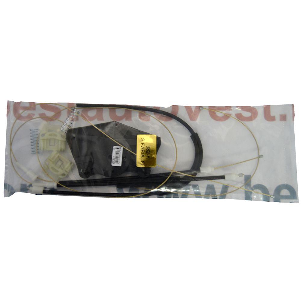 Kit reparatie macara geam fata Skoda Fabia 1 6y stanga electrica 2000-2007 (cablu role si suport geam)