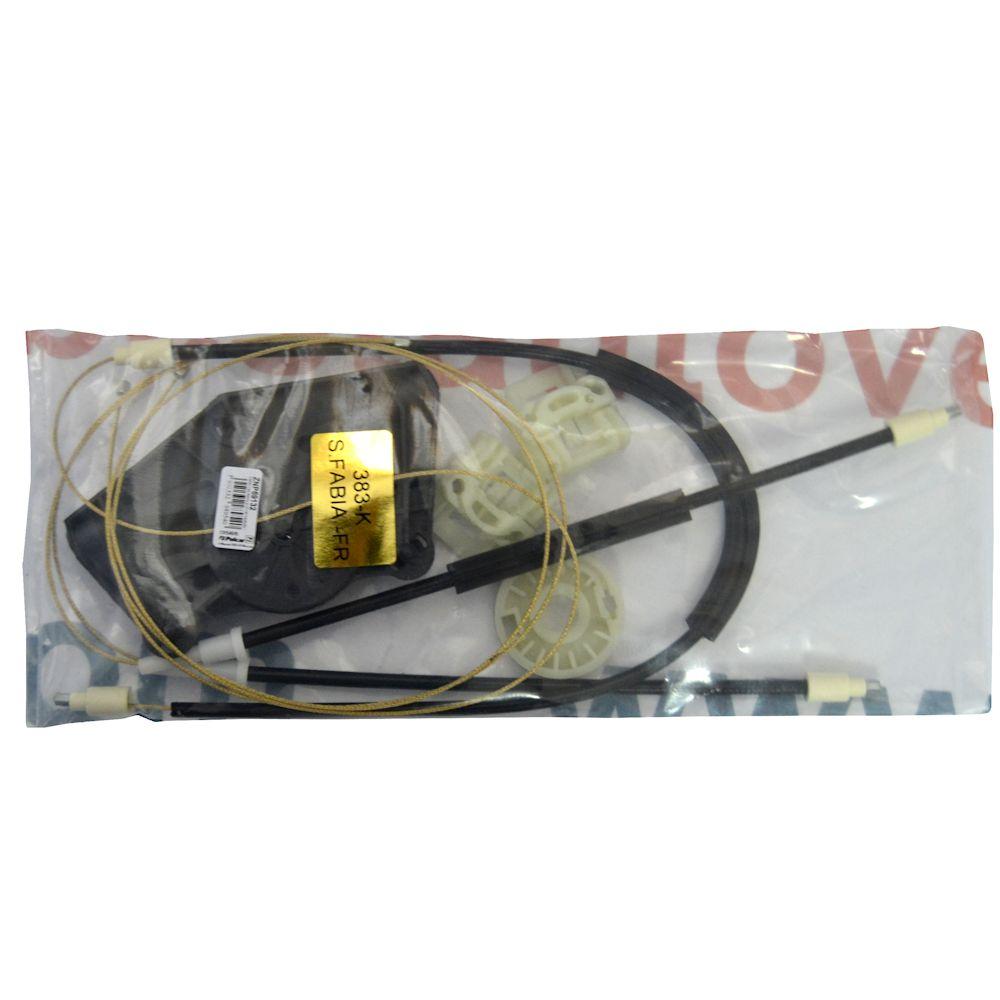 Kit reparatie macara geam fata Skoda Fabia 1 fata dreapta electrica 2000-2007 (cablu role si suport geam)