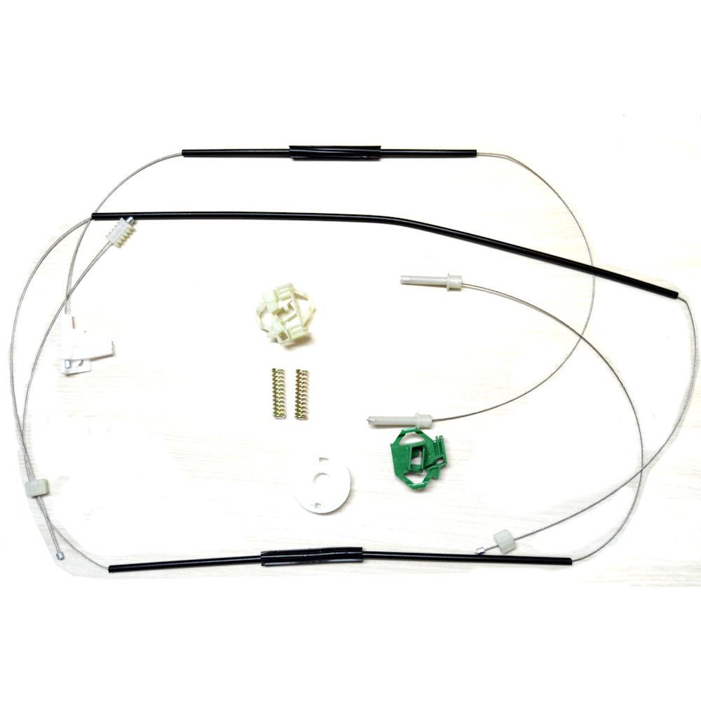 Kit reparatie macara geam fata Skoda Octavia 1 (1U2/1U5) electrica - fata dreapta (cablu role si suport geam)