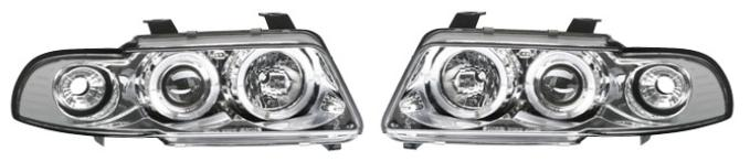 Set faruri tuning Audi A4 Sedan 1994-1998/Estate 1994-1998 Aftermarket fata stanga-dreapta transparent -silver