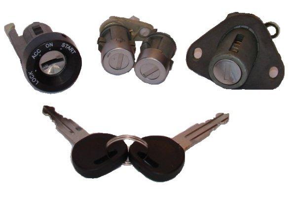 Set yale inchidere Daewoo Lanos (Klat/T100) Sedan, 1997-12.08, cu chei, cu 2 butuci blocare usa, cu blocare portbagaj si buton deschidere,cu blocare aprindere cu dispozitiv de imobilizare, fata, 96304764,